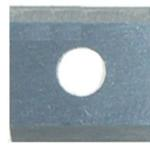 Magnate 8298 Reversible Insert Knives - 2 Cutting Edges, 1 Hole - 20mm Length; 12mm Width; 1.5mm Thickness; 10 Knives/Pkg