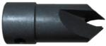 "Magnate 8646 Taper Shell High Speed Steel Countersink - 1/2"" Countersink Diameter; 3/16"" Drill Diameter; 1/2"" Shank Diameter; 3/8"" Shank Length; 1-1/4"" Overall Length"