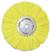"Magnate AWH1034 Hard Airway Buffing Wheel, 100% Cotton Sheet - 10"" Diameter; 3/4"" Hole Diameter; 16 Ply; 1 Count/Pack"