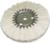 "Magnate AWS0634 Soft Airway Buffing Wheel - 100% Cotton Sheet - 6"" Diameter; 3/4"" Hole Diameter; 16 Ply; 1 Count/Pack"